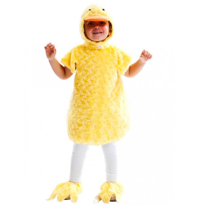 Disfraz de pollito adorable de peluche infantil