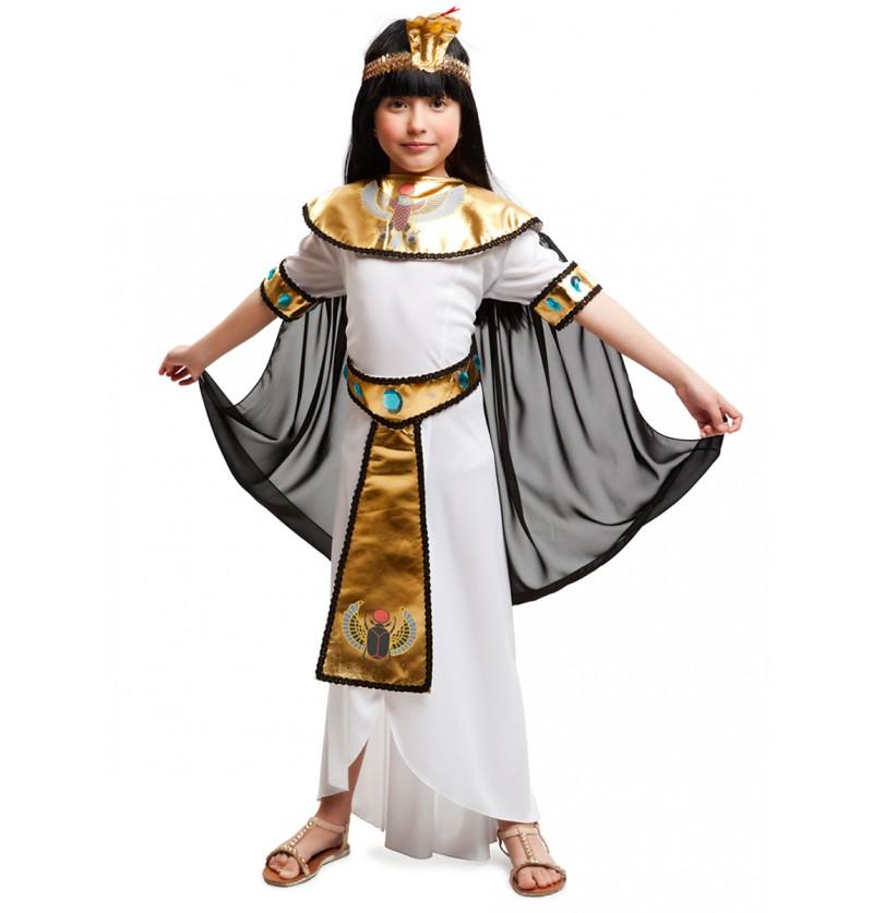 Disfraz de princesa del Nilo para niña