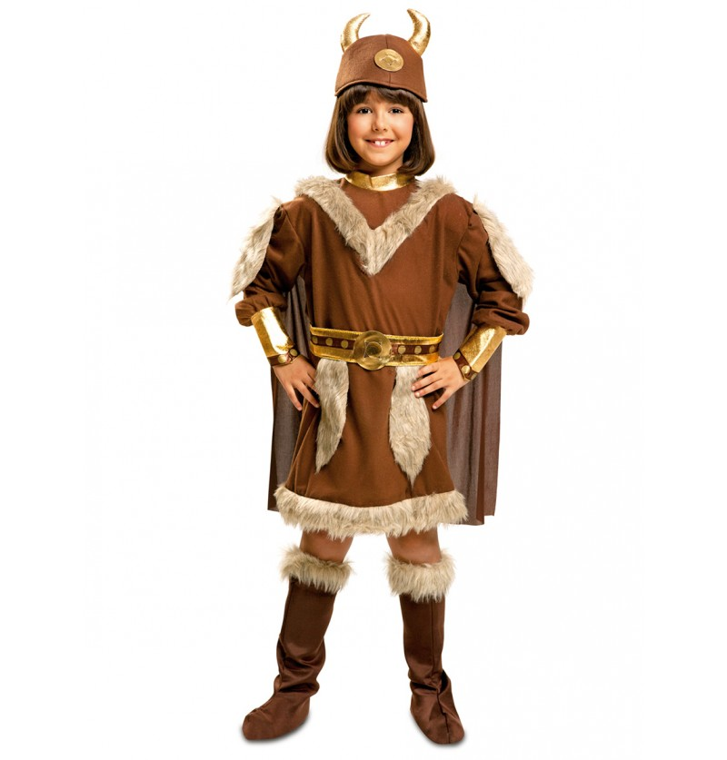 Disfraz de vikinga brava para niña