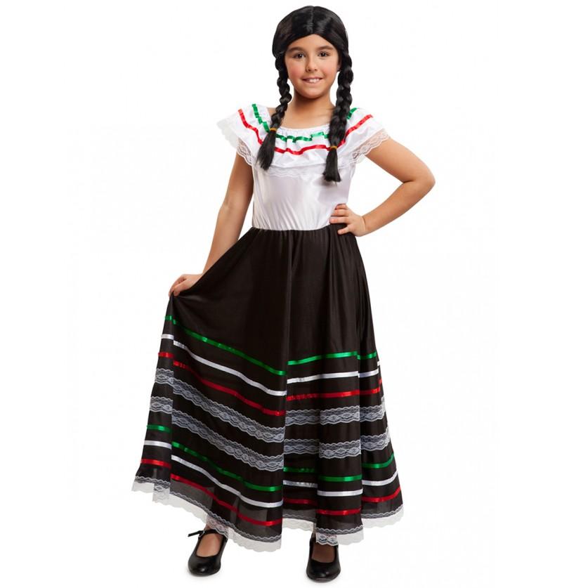 Disfraz de mexicana linda para niña