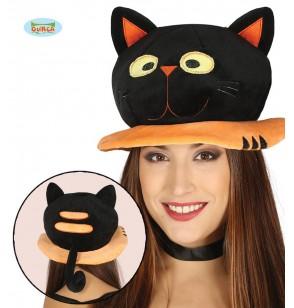 sombrero de gato negro para adulto