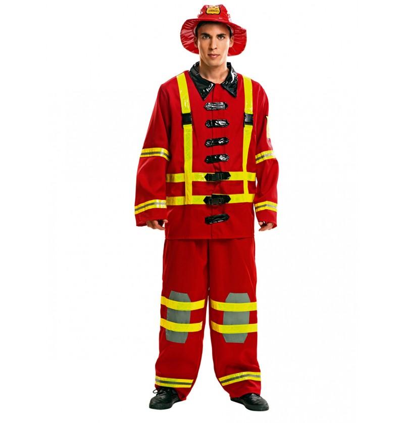 Disfraz de bombero en acción para hombre