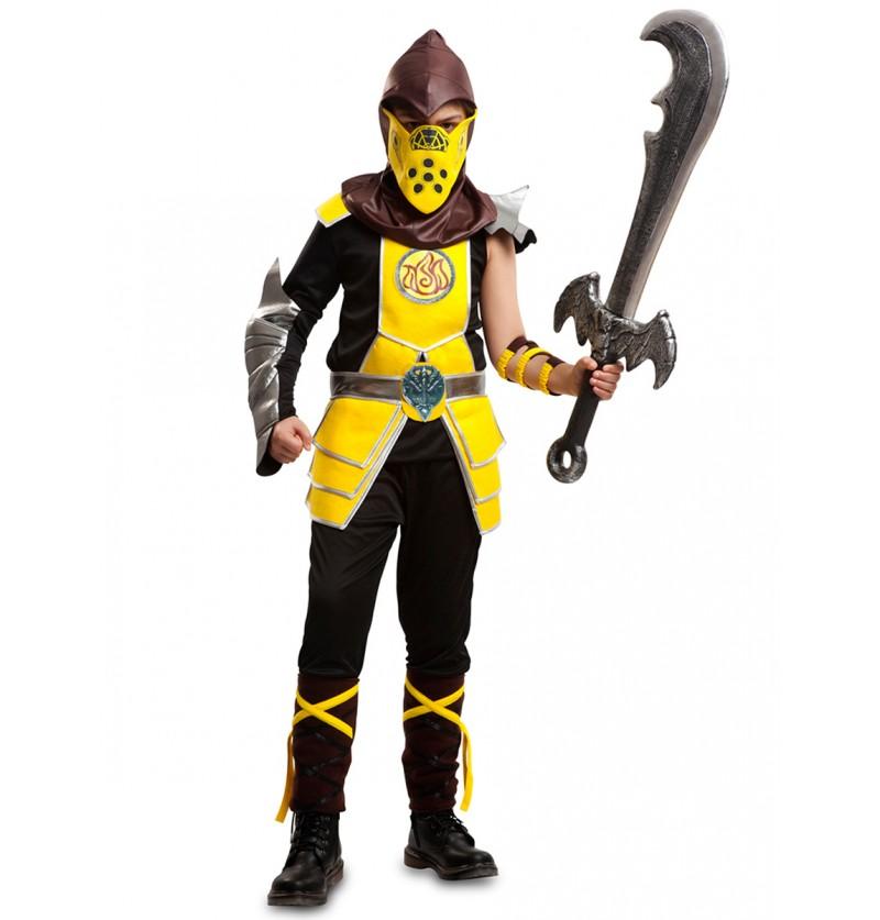 Disfraz de escorpión kombat para niño