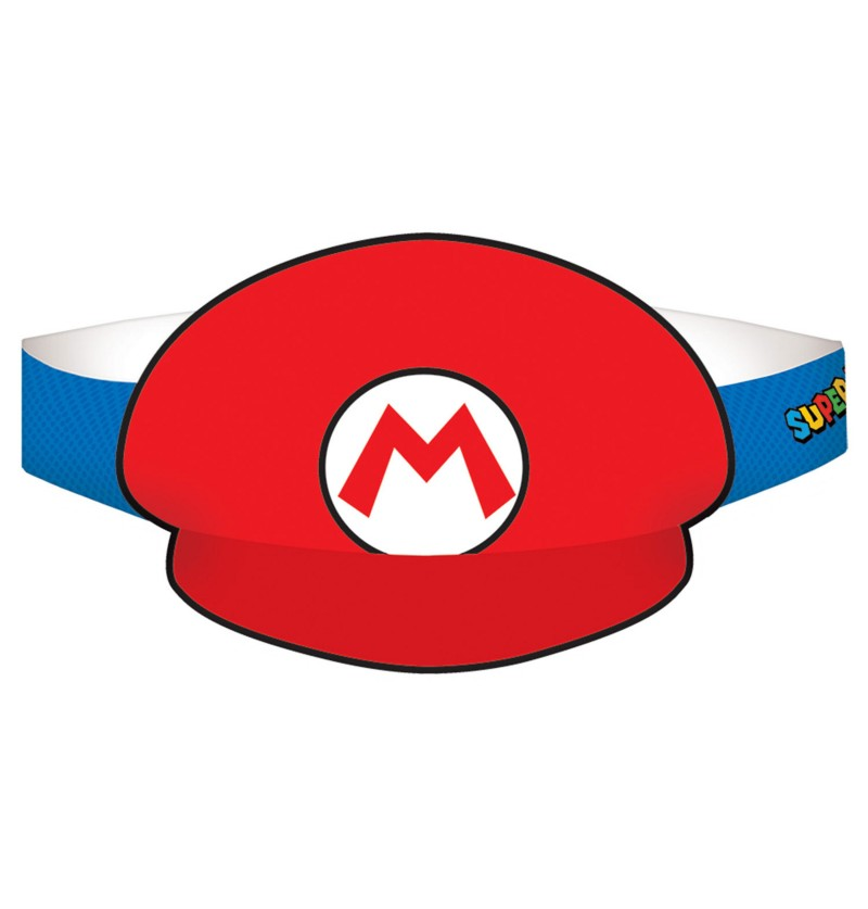 set de viseras de super mario bros