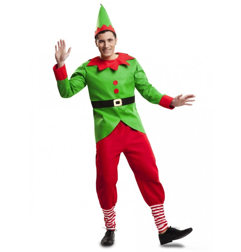 Disfraz de elfo juguetón para hombre