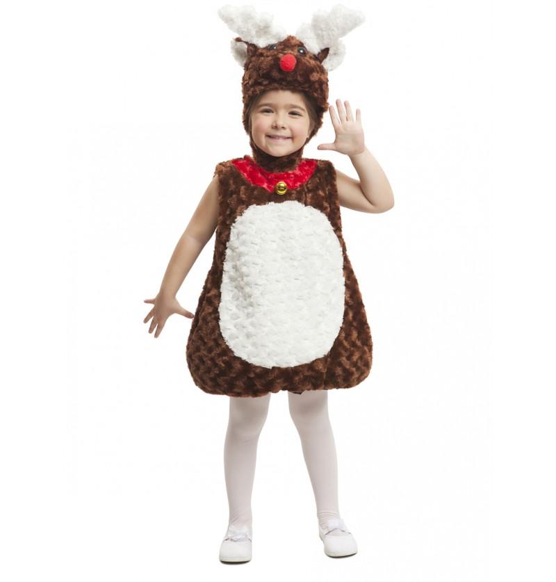 Disfraz de reno de peluche infantil