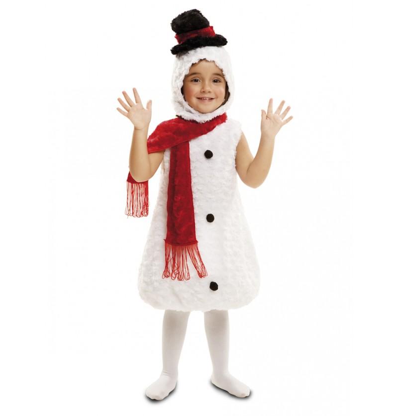 Disfraz de muñeco de nieve de peluche para bebé