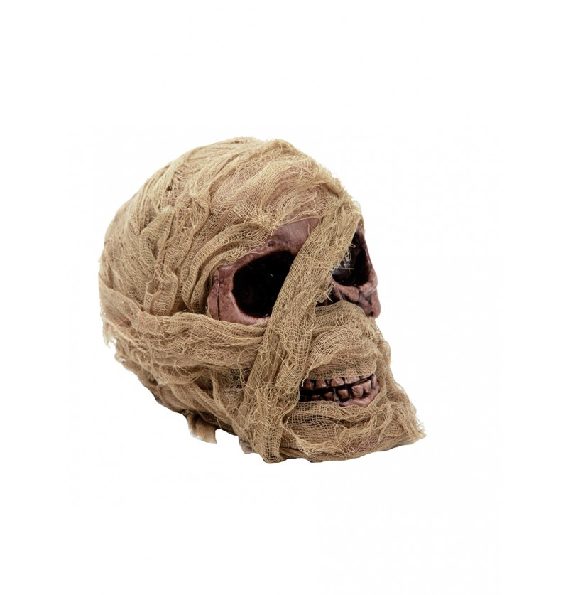 Calavera de momia decorativa