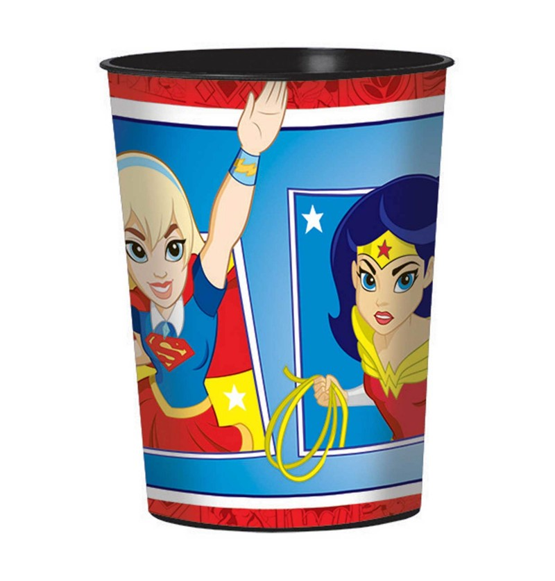 vaso de plstico duro dc super hero girls