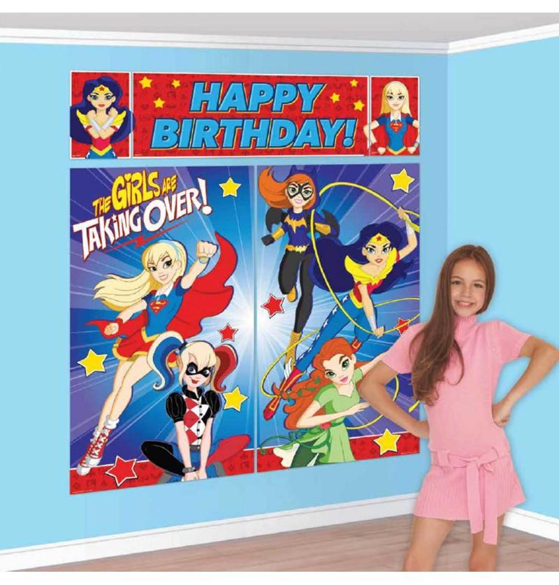 set de decoracin de pared de dc super hero girls