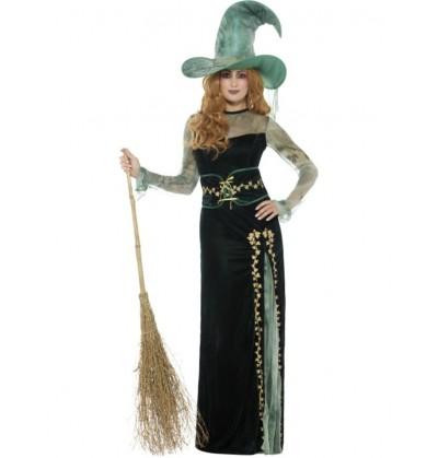 disfraz de bruja de campo para mujer