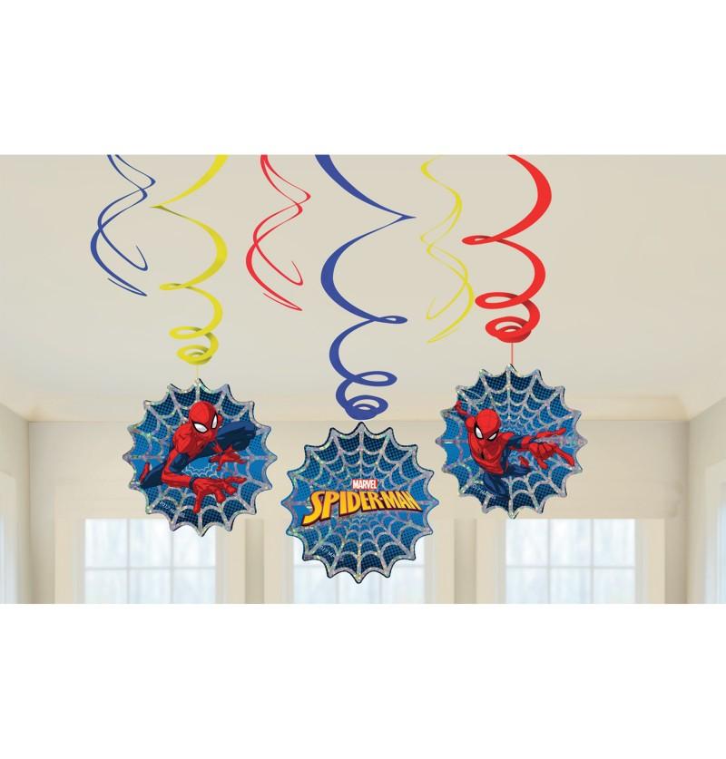 set 6 adornos colgantes de spiderman