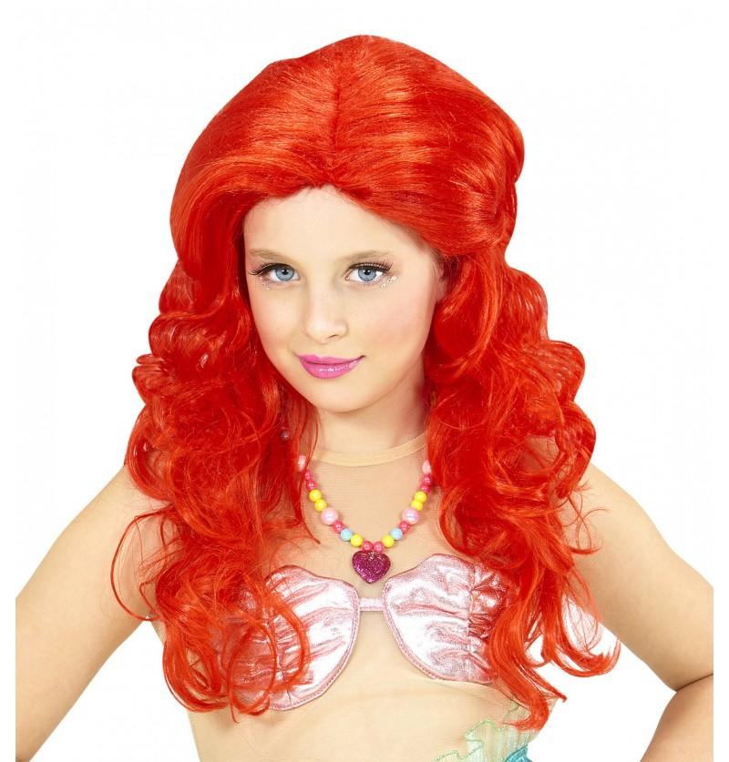 Peluca Ariel para niña