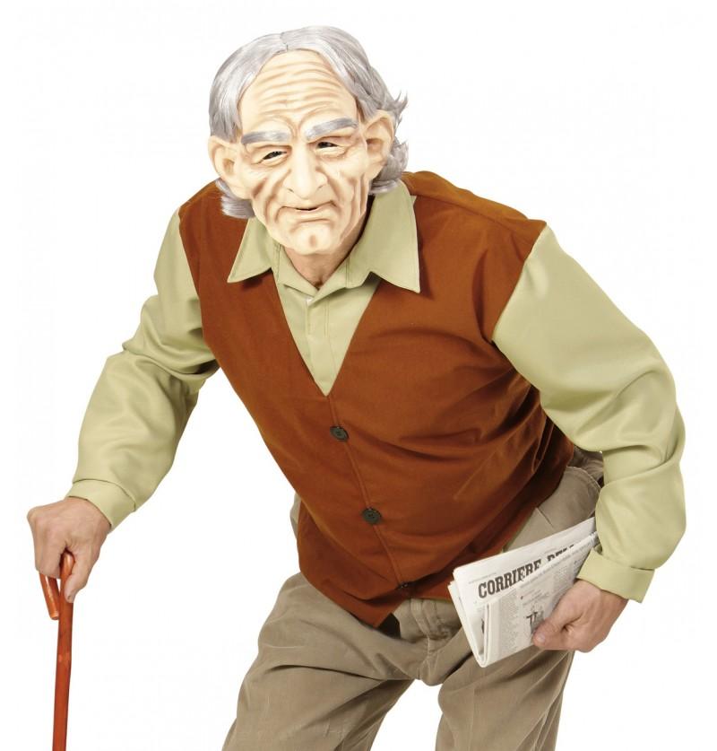 Disfraz de abuelo misterioso para adulto