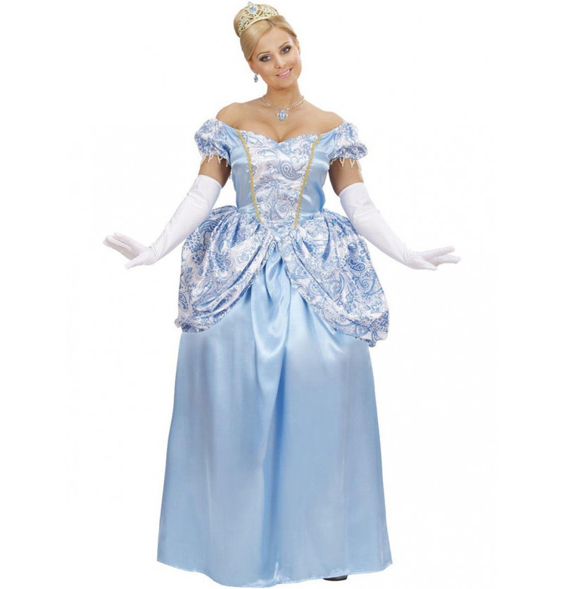 Disfraz de princesa azul encantadora para mujer