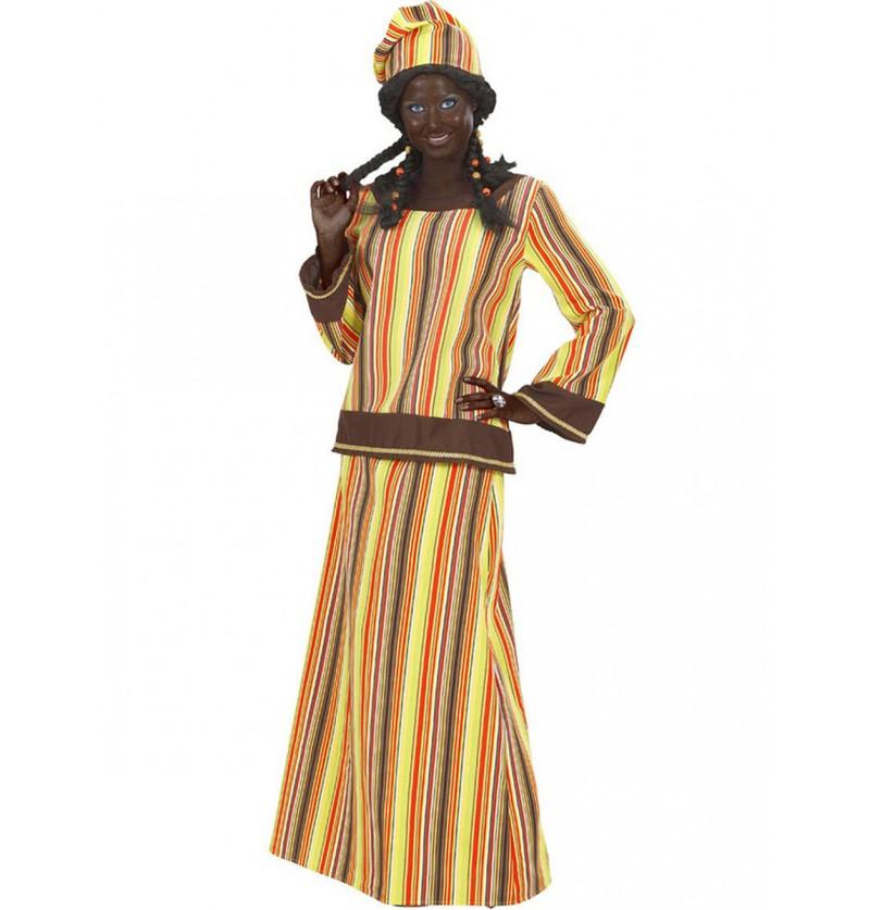 Disfraz de africana alegre para mujer