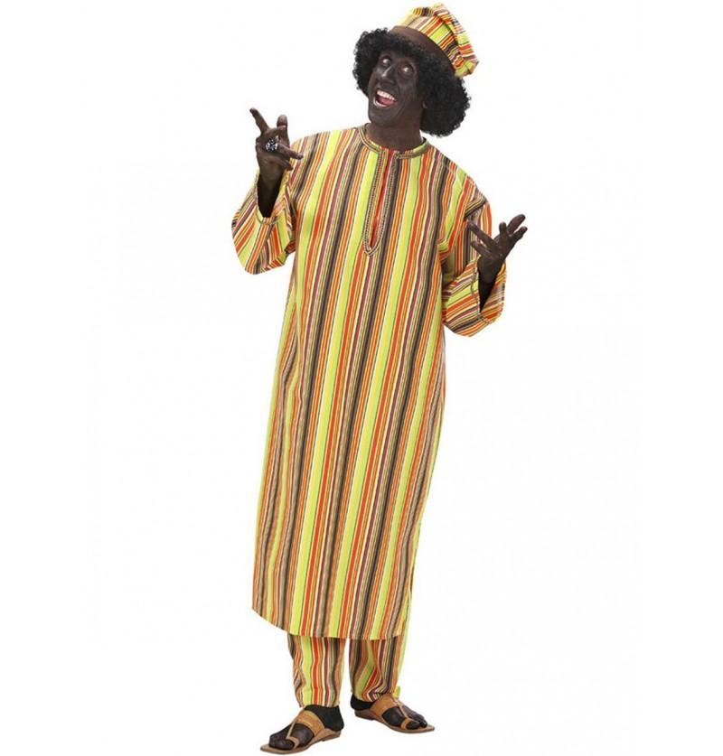 Disfraz de africano alegre para hombre