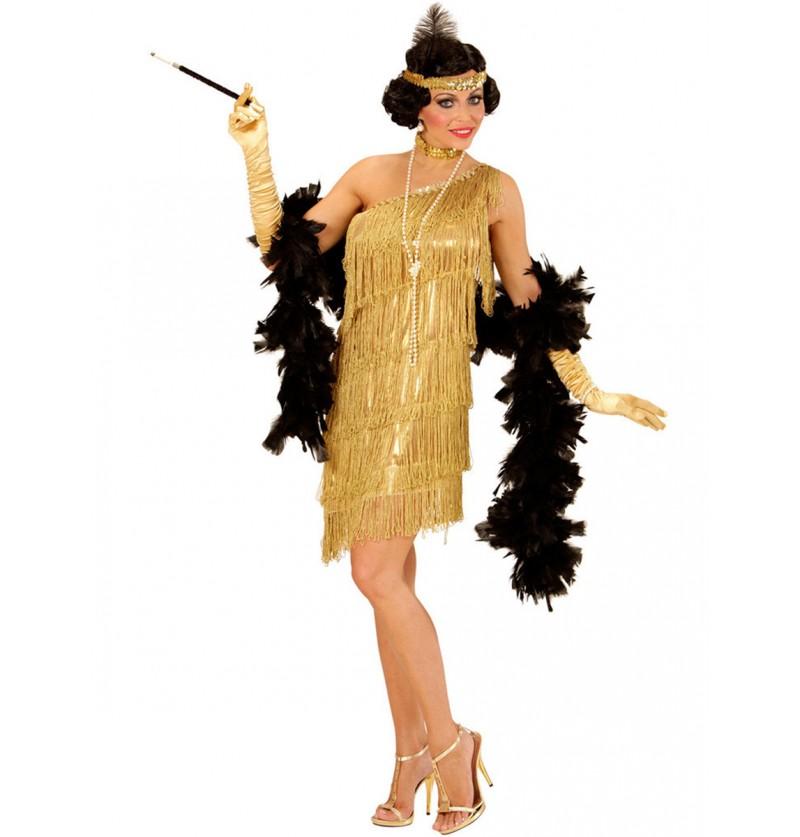 Disfraz de charlestón deslumbrante para mujer talla grande