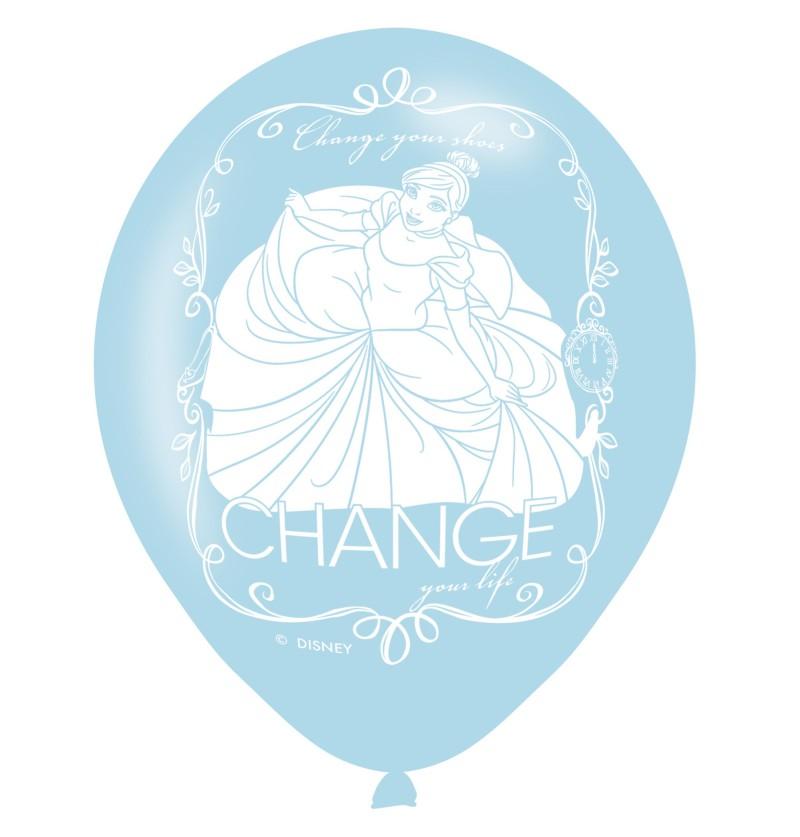set de 6 globos de ltex de princesas disney
