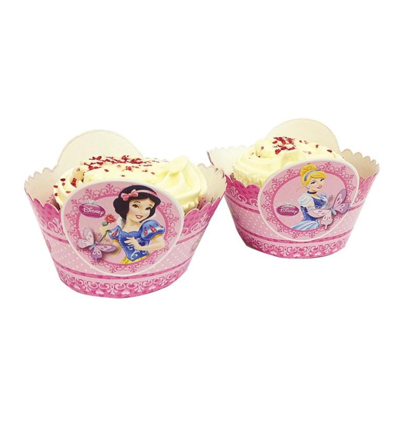 set de 8 bases para cup cakes de princesas disney