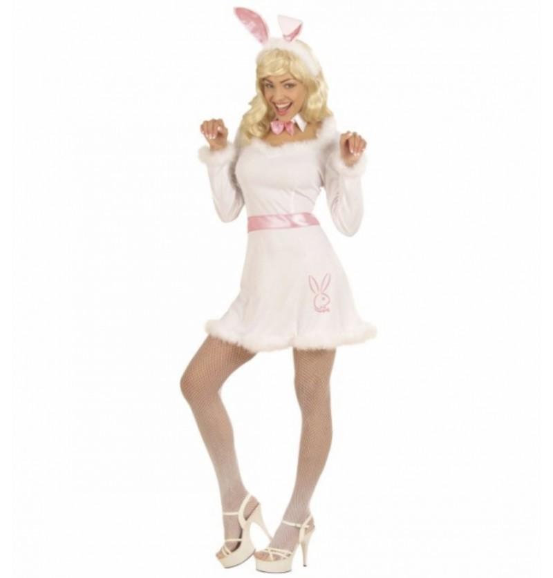Disfraz de conejita blanca sexy para mujer