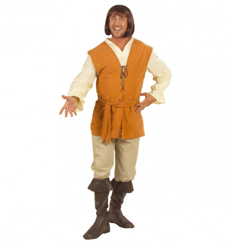 Disfraz de poeta medieval para hombre talla grande