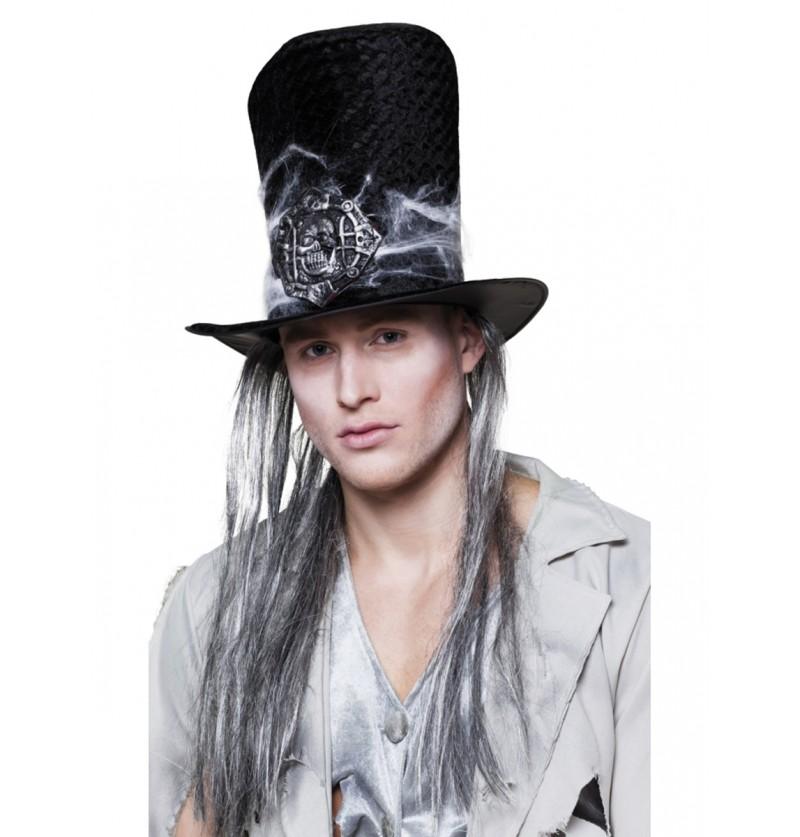 Sombrero con pelo de enterrador siniestro para hombre