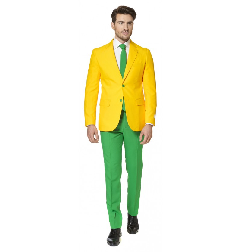 Traje Green and Gold Opposuit