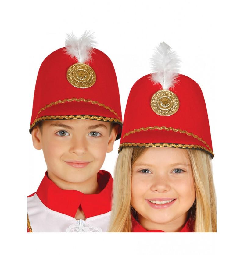 Sombrero de majorette rojo infantil