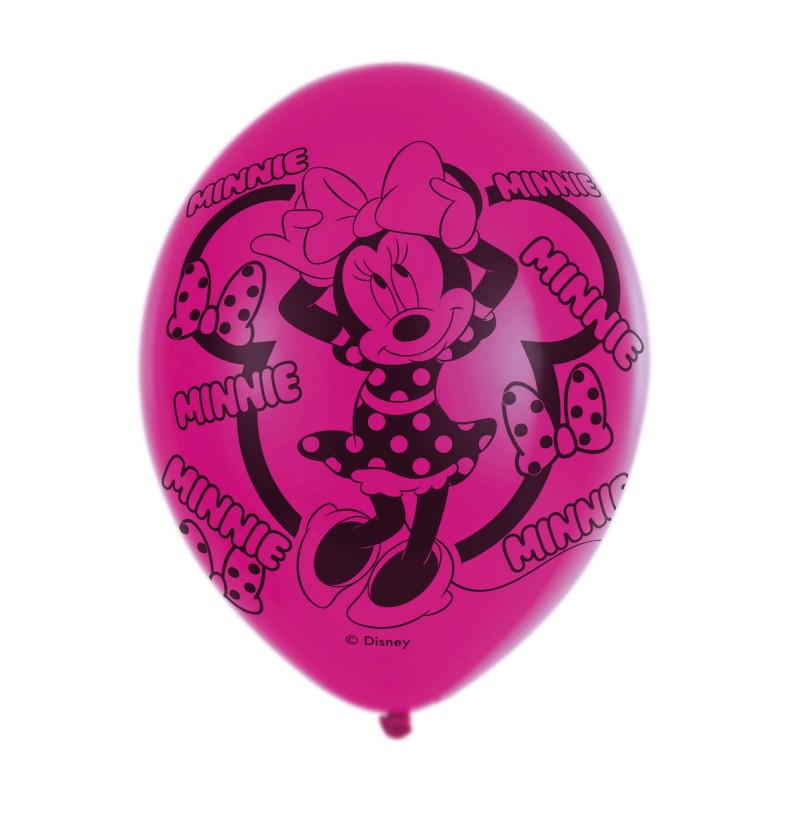 set de 6 globos de ltex de minnie mouse