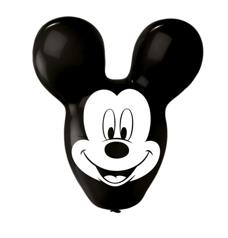 set de 4 globos de ltex con forma de mickey mouse