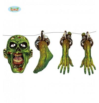 guirnalda zombie destrozado