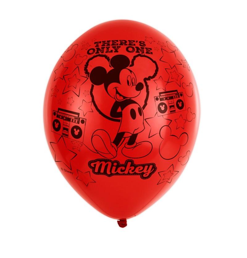 set de 6 globos de ltex mickey mouse party
