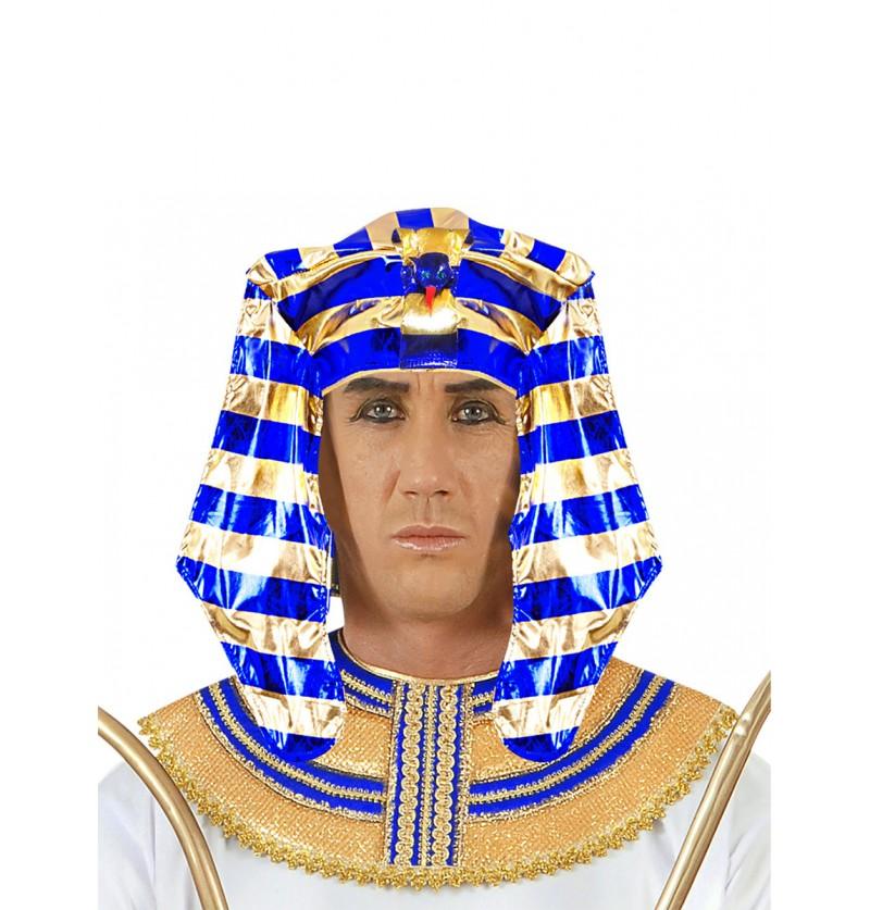 Tocado de faraón de Egipto para hombre
