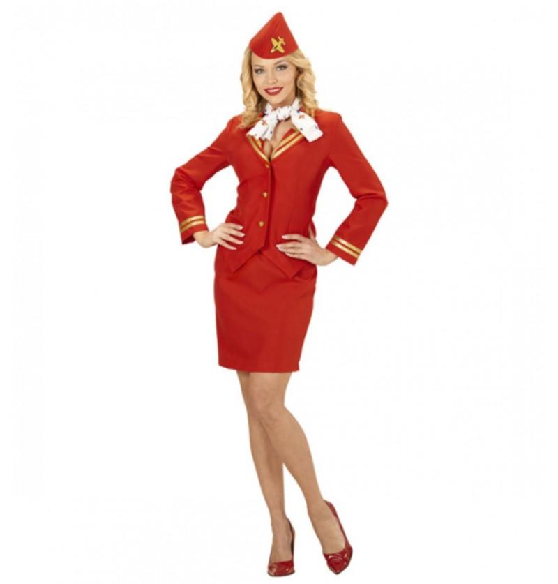 Disfraz de asistente de vuelo para mujer