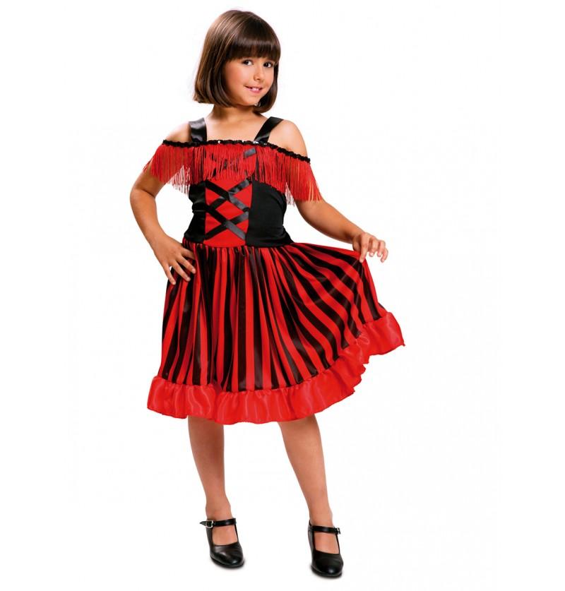 Disfraz de bailarina de can-can para niña