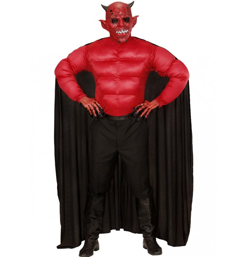 Disfraz de diablo musculoso para hombre