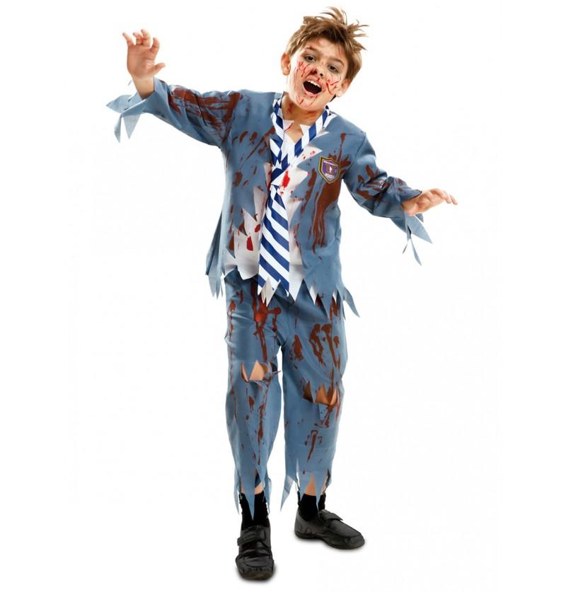 Disfraz de colegial zombie para niño