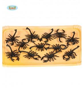 bolsa de 12 escorpiones decorativos
