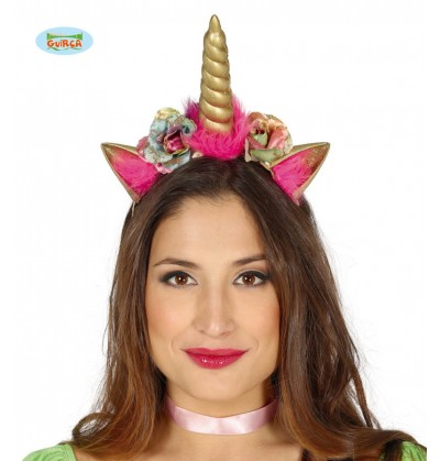diadema de unicornio dorado