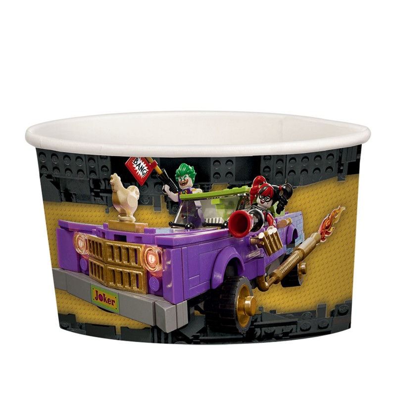 set de 8 vasitos de helado de batman la lego pelcula