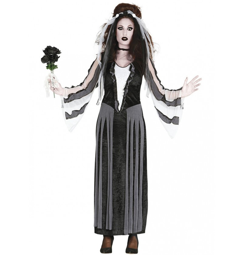 Disfraz de dama oscura para mujer