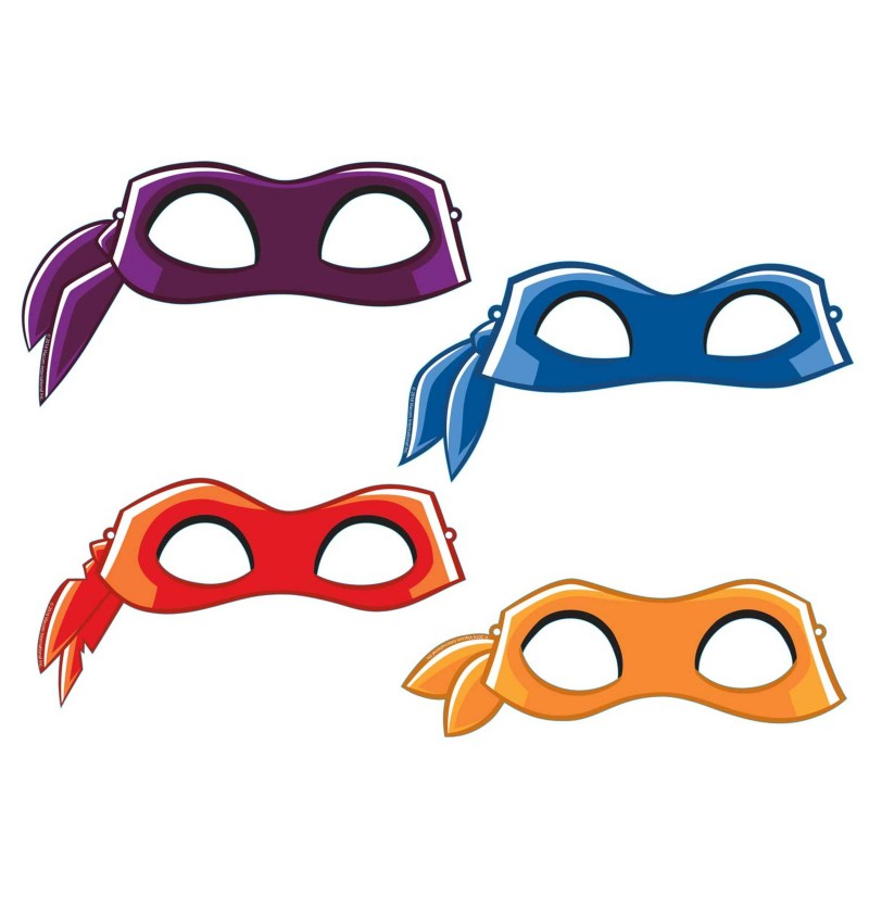 set de 8 antifaces de las tortugas ninja half shell heroes