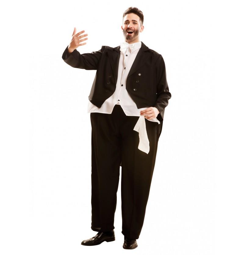 Disfraz de cantante de opera rellenito para adulto