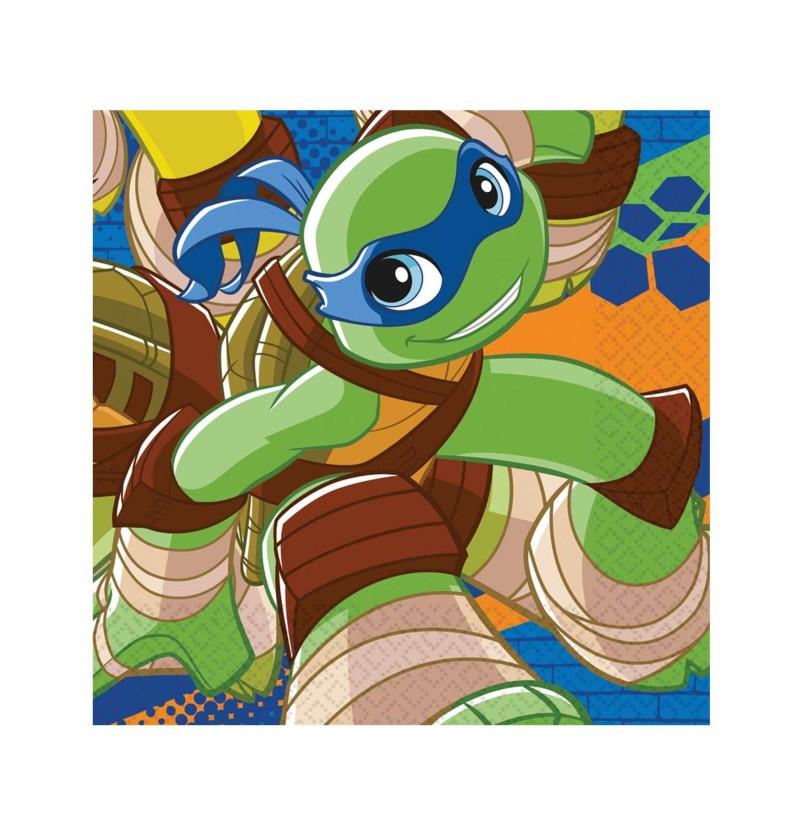 set de 20 servilletas de las tortugas ninja half shell heroes