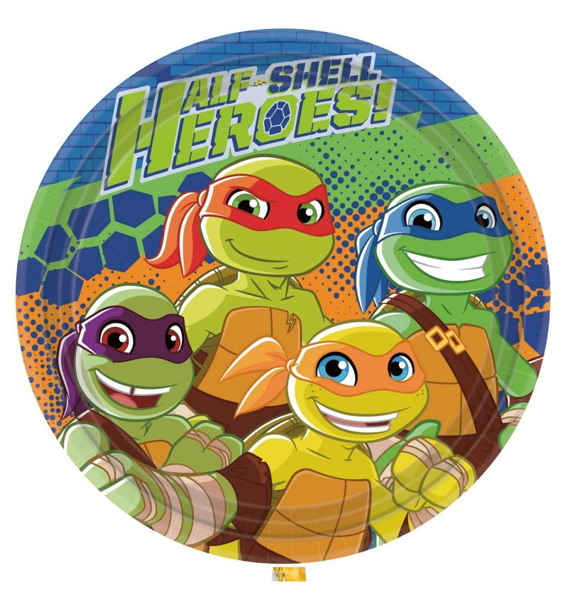 set de 8 platos las tortugas ninja half shell heroes