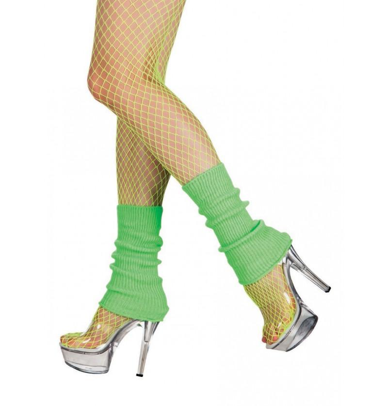 Calentadores verdes cortos para mujer