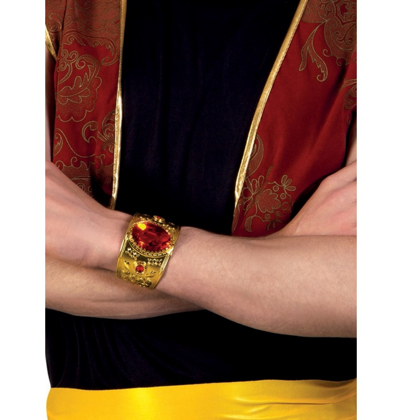 Pulsera persa con diamante rojo para adulto
