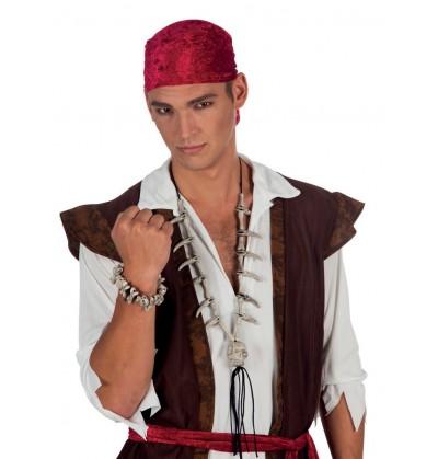 Pulsera de calaveras piratas para adulto