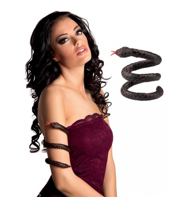 Brazalete de serpiente venenosa para mujer